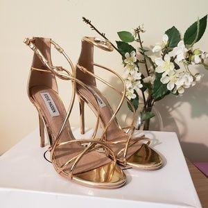 Steve Madden Rose Gold open toe heels